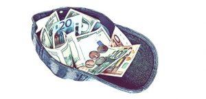 Das Geld liegt auf der Straße - Kappe