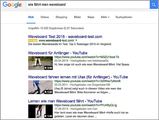 Video-Keywords: Wie komme ich bei Google auf Seite 1